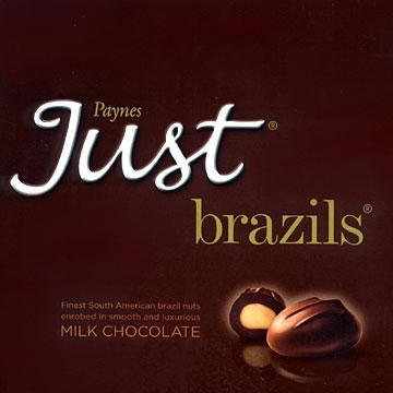 Paynes Just Brazils Milk Chocolate £3.00 @ Sainsbury's instore