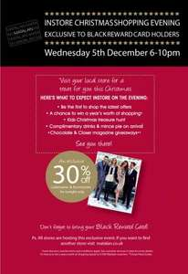 Matalan Black Card Event TONIGHT 6 - 10pm 30% off Ladies INSTORE