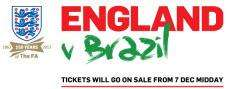 England v Brazil football tickets general sale starts midday Fri Dec 7 FA