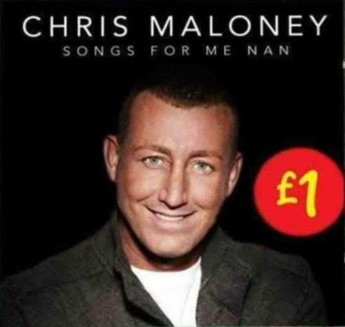 X-Factor finalist Chris Maloney's solo album for a pound