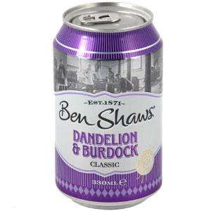 6 Cans of Ben Shaws Dandelion and Burdock for £1 at Poundland