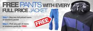Buy ski jacket get FREE Pants (trousers) @ Surfanic