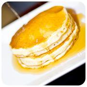 Free soft drink with pancakes at Pancake Corner, Spinningfields