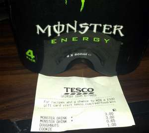 4 Pack of Monster Energy Drink @ Tesco