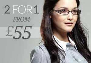 2 Pairs of Glasses for £29 (Single Vision) @ Glasses Direct