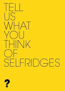 £10 FREE to be a Mystery Shopper for Selfridges!