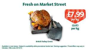 Turkey Crown - Morrisons - £7.99 per kilo