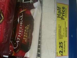 Cathedral city extra mature cheese at Tesco - £2.25 (half price)