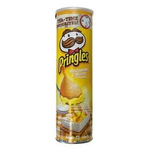 Pringles Macaroni Cheese Flavour 190g    89p AT B&M STORES