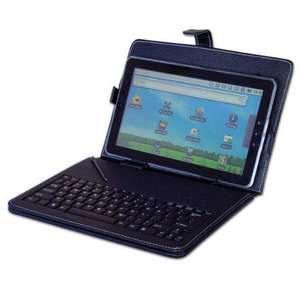 """10"""" Black Leather Look Tablet Case + USB Keyboard With Free Stylus & Stand £7.98 Sold by POP GATE and Fulfilled by Amazon"""