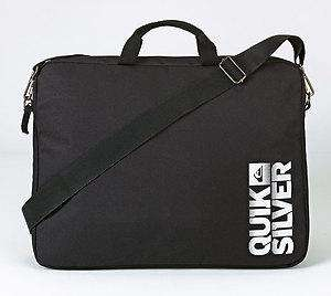 QUIKSILVER LAPTOP SLEEVE MESSENGER BAG - BLACK £4.99 + .99p postage @ Argos Ebay