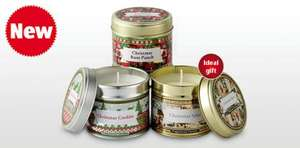 Christmas Fragranced Tin Candles - Aldi from 13th December - £2.99