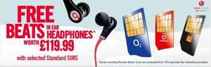 Free Monster Beats with 12 months Sim only contract @ carphone warehouse ..£21 Utd Minutes,Utd Text & Utd Data!