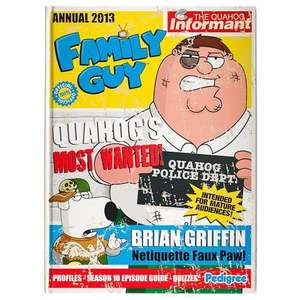 Various Annuals at Poundland Including Family Guy