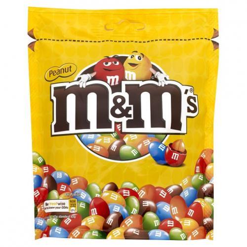 m&m's peanut pouch 185g 84p in store Selfridges london