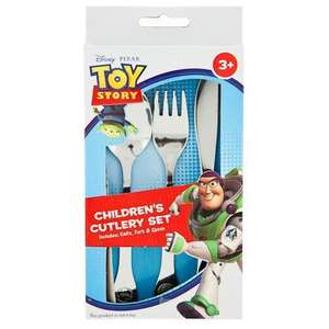 Disney Toy Story /cars/princess/ winnie pooh Childrens Cutlery Set £1 @ poundland