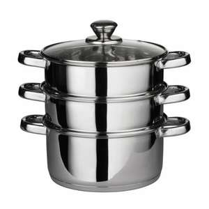 Stainless Steel multi Steamer £12.75 plus FREE del! Great to cook christmas day veggies or present! @ Amazon / Trendi