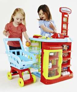 Elc supermarket and trolley £24 delivered to store was £60 now £24 with code at mothercare