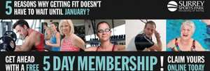 Surrey Sports Park 5 day free membership