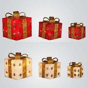 Set of 3 Lighted Decorative Gift Boxes £11.99 with code @ Garden Centre Online