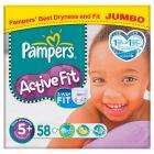pampers active fit nappies size 4+ and 5+ jumbo box - £7 @ Sainsburys