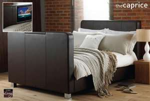 Caprice Faux Leather Double TV Bed £150 Delivered @Ebay store UK-Bedding.Was £948.99