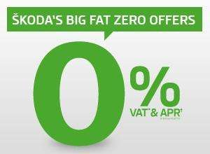 Skoda 0% VAT & 0% APR on Selected models.