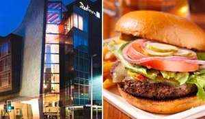 Travelzoo Deal : Raddison Hotel Argyle Street Glasgow - 5* : Burgers & Drinks for 2 £8.50