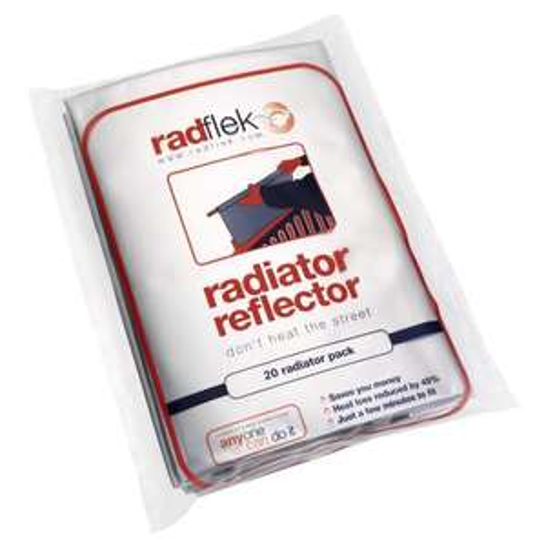 Radflek Radiator Reflector Panel (20 Radiator Pack) 40% off at £27.21 (from £44.99) - Amazon LIGHTNING DEAL