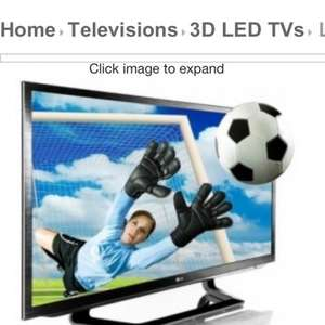 "LG 42LM620t 42"" LED CINEMA 3D Smart TV with Freeview HD £499 @ Electro Centre"
