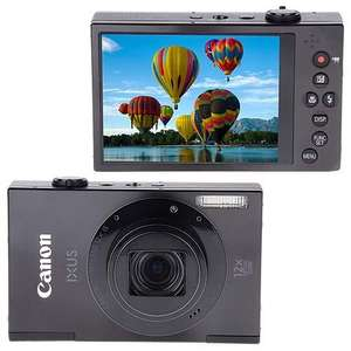 "Canon Ixus 500HS with 16gb card £125.99 + £30 cashback = £95.99 @ Bid TV , 12x Optical Zoom, HD Movies, 3"" Screen"