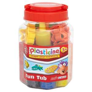 Plasticine Fun Tub 600g £3 collect from wilkinsons