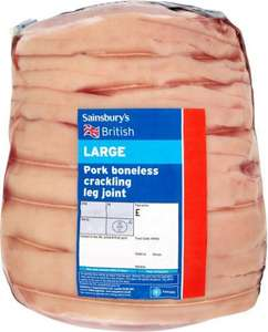 Sainsbury's Large Crackling Pork Leg Joint (Approx 2Kg) (£6.98)