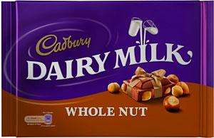 Cadburys whole nut/dairy milk/ fruit and nut 400g only £2 in store in Morrisons