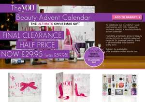 The 'You' Beauty Advent Calendar Half Price £29.95 @ Latest in Beauty