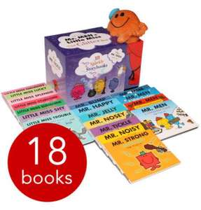 Mr Men & Little Miss Glitter Box Collection - 18 Books (SLIPCASE) + Mr Tickle Cuddly Toy £15.99 delivered @ The Book People