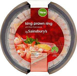 King prawn ring with marie rose sauce £3.00 @ Sainsburys