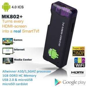 Allwinner A10 MK802+ Android 4.0 Mini PC in USB stick format!	£35.90 DEL @iBOOD