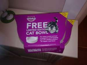 Free Whiskas Cat Bowls - No Minimum Spend, As many as you want at Tesco South Shields