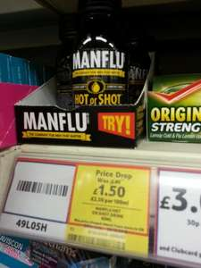 Manflu Hot or shot drink @ Tesco instore & Online