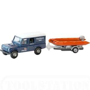 Corgi Land Rover Defender & RNLI Lifeboat Model at Toostation £5.49