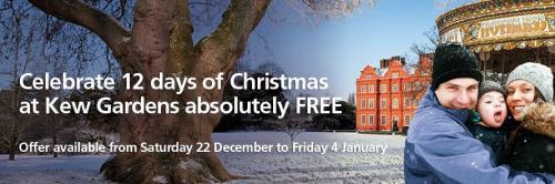 free entry to kew gardens over festive season