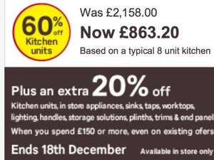 Homebase kitchens 60%off Plus extra 20%