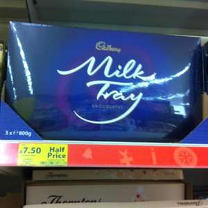 Cadbury Milk Tray 800g £7.50 instore @ Tesco