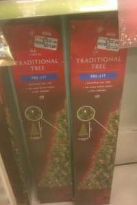 All pre-lit christmas trees half price today from £3 to £25 @ Asda