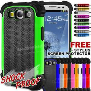 Shockproof case/cover for samsung galaxy s3 + free screen protector and stylus 99p delivered @ Ebay