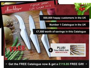 Free Christmas 5-Piece Knife Set Gift (£7.99 P&P which should be returned) @ Jean-Patrique
