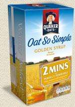 Quaker Oats Golden Syrup porridge £0.59 @ Tesco