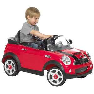 6v mini cooper  was £259.99 then £129.99 now £99.99 @ Toys R Us