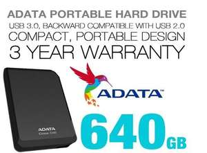 Adata USB 3 640GBP portable Hard Drive £43.99 @ ebuyer eBay